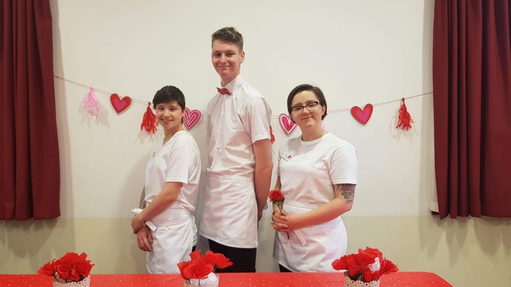 Valentines Day lunch staff in care home