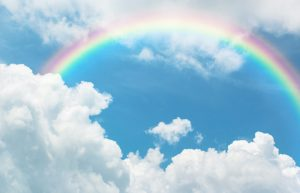 rainbow, better together, calm after the storm
