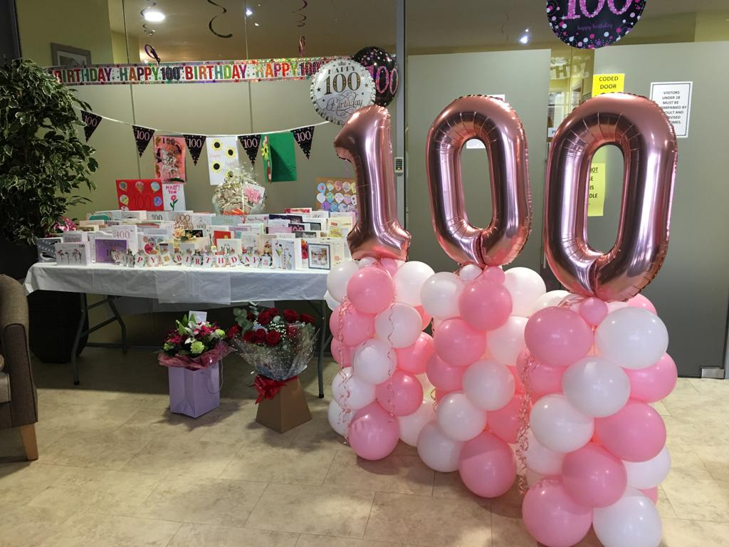 Resident celebrates 100th birthday